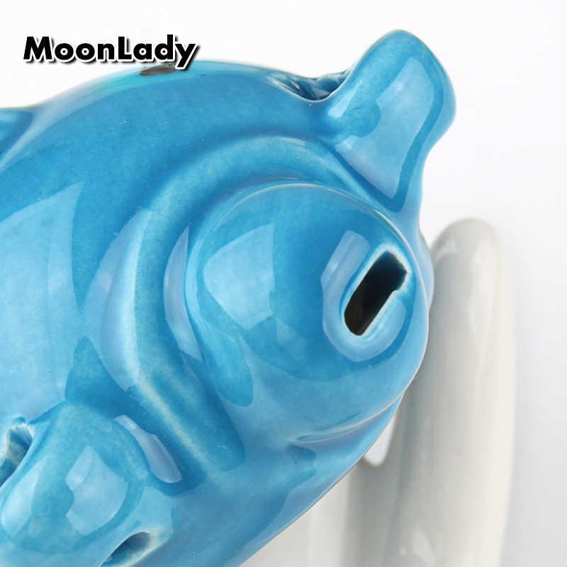 Kolorowe niedźwiedź kształt Ocarina 6 otwory AC Ocarina New Arrival Instrument muzyczny Woodwind dobry prezent dla dzieci