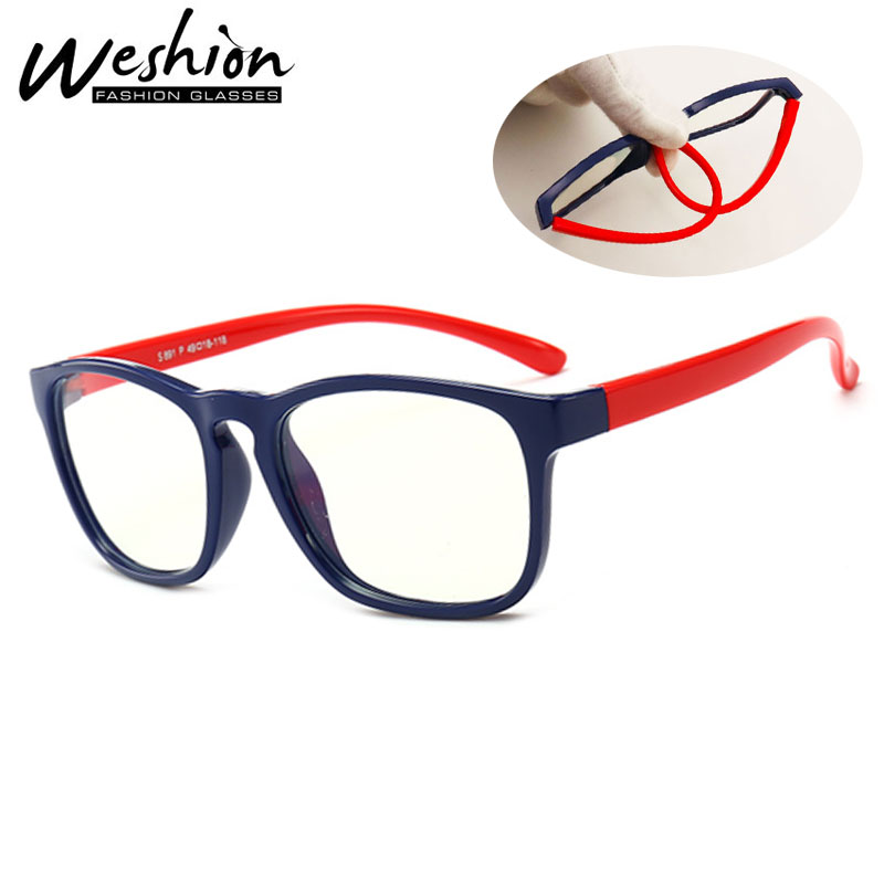 Kids Blue Light Blocking Glasses Children Optical Frame Transparent Eyeglasses Filter Reduces Digital Eye Strain Gaming UV400