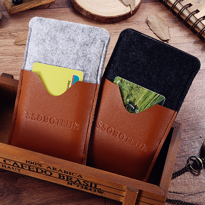 FSSOBOTLUN,6 Styles,For Ulefone Power 3 Phone Case Handmade Wool Felt Sleeve Pouch Protective Card Pocket Case Bag