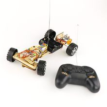 DIY Educational Electric Remote Control RC Robot Car Scientific Invention Toys For KIds Gift Learning Education Toy Models(China)
