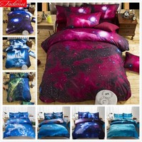 3D Print Creative Galaxy Stars Kids Child 2/3/4 pcs Bedding Set Cotton Queen Full Single Size Duvet Cover Pillowcase Bed Linens