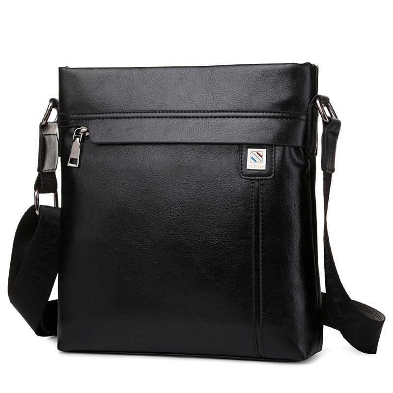 c6a7a5e734 ... New Kangaroo Men's Single Shoulder Bag Male Slant Satchel Business PU  Leather Messenger Bag Vertical Package ...