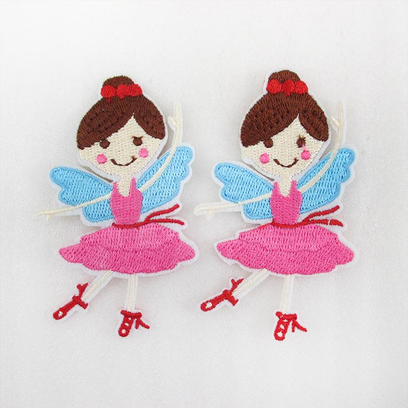 Diy Handmade Embroidered Patch: 10Y44548 80*50mm Ballet Girl Embroidery Patch Printed