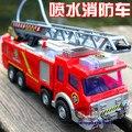 Розничная Электрическая Пожарная машина Воды Спрей Автомобиль Сэм Пожарный автомобиль SHD-1078