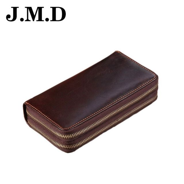 JMD 2017 New Arrive Brand Genuine Leather Men Long Wallet Handbags Casual Card Cion Purse Holder Quality Male Clutch Bags JD062