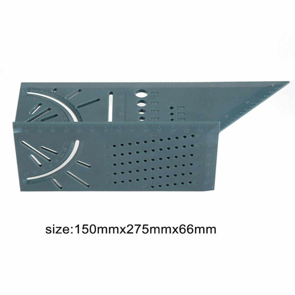 2019 נגרות 3D Mitre זווית מדידת כיכר גודל למדוד כלי עם מד & שליט כלים הנמכר ביותר זרוק חינם
