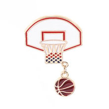 WKOUD Leuke Fashion Prachtige Basketbal Bal Box Frame Pin Broche Legering Badge Pin Gift Bag Trui Accessoires(China)