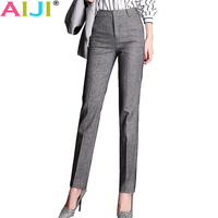 2018 Spring Summer Women Straight Pants Plus Size OL Suit Pants New Fashion Western Style Trousers