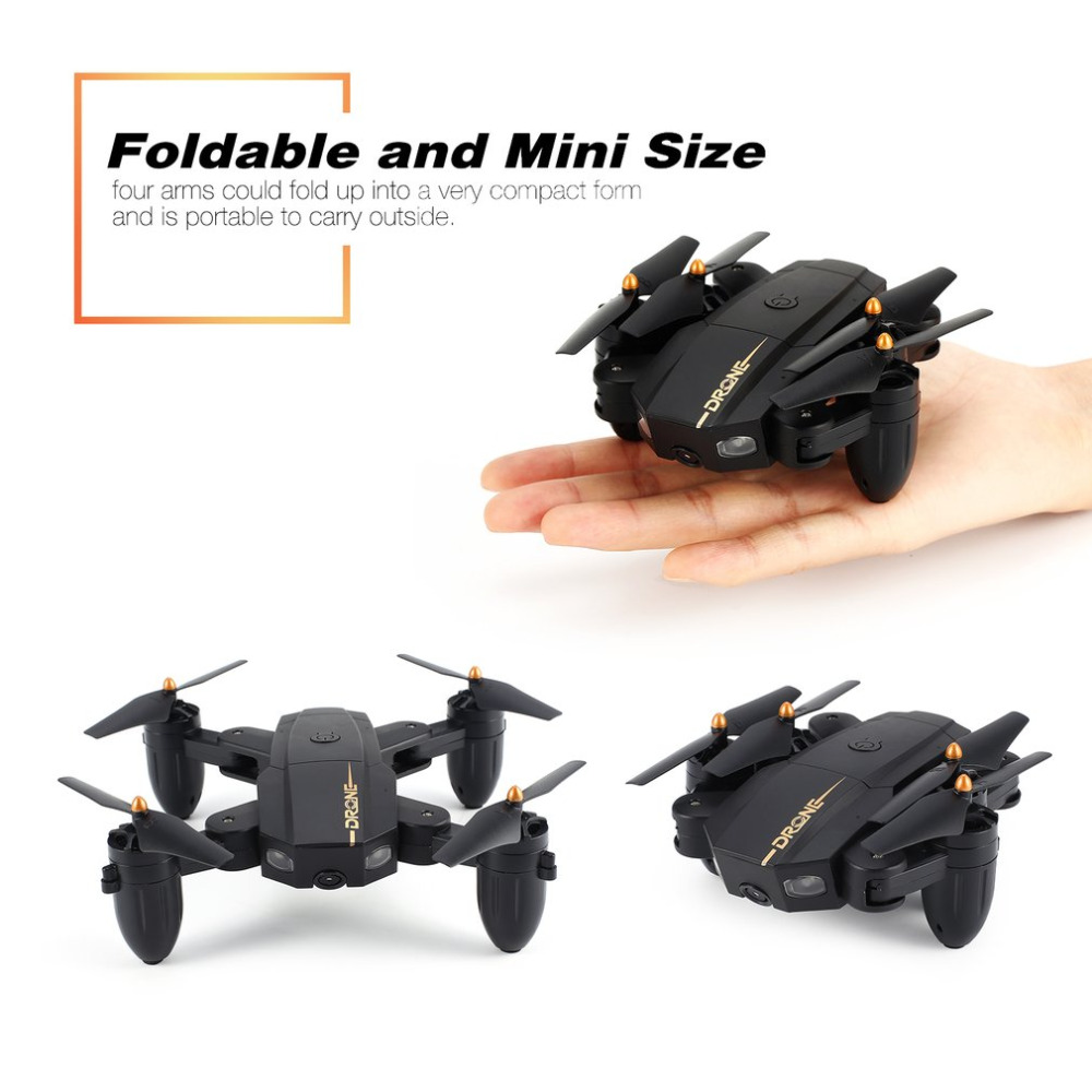 RC Drone Foldable Drone RC Quadcopter with Wifi with app Camera Live Video 0.3MP 2.4Ghz 6 axis Altitude Hold Headless Mode Квадрокоптер