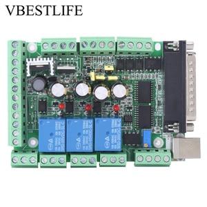 Image 1 - 4 axls 6 axls Cnc Breakout Board Cnc Graveermachine Breakout Board Voor Stappenmotor Driver MACH3V2.1 L Interface Adapter