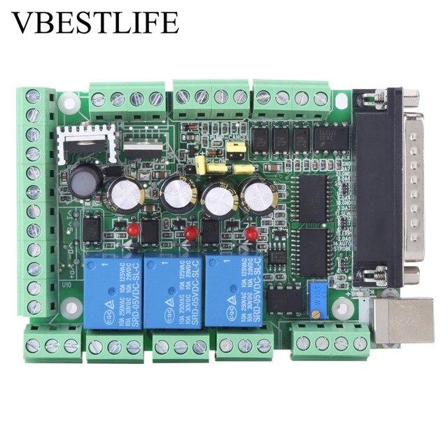 4 axls 6 axls Cnc Breakout Board Cnc Graveermachine Breakout Board Voor Stappenmotor Driver MACH3V2.1 L Interface Adapter
