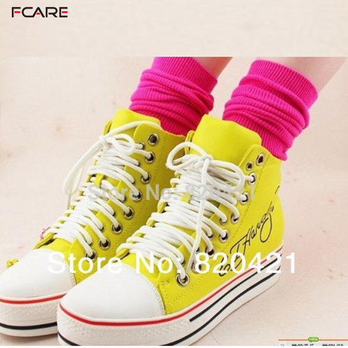 Fcare 2014 chegada nova 10 PCS   5 pairs meias atacado venda Harajuku  fluorescência reator meias perna longa maré de veludo meias de algodão eee5e76187