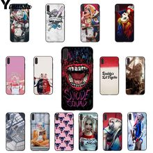 Yinuoda Harley Quinn Suicide Squad Joker Wink Diy Ponsel Case Penutup Shell UNTUK iPhone X XS Max 6 6 S 7 7 Plus 8 8 PLUS 5 5 S SE XR(China)