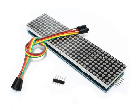 Free shipping 10pcs/lot MAX7219 Dot Matrix Module For Arduino Microcontroller 4 In One Display with 5P Line Connector