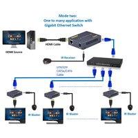 ZY DT103A 492ft HDMI Splitter LAN Extender With IR Over TCP IP 1080P HDMI Ethernet Extensor 150m via CAT5 CAT5e CAT6 Rj45 Cable
