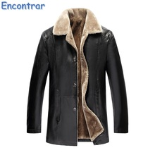 Encontrar Winter Fur Leather Jacket Mens Plus Size 5XL Suede Leather Jackets Men Faux Fur Thick Warm Long Suede Jacket,QA360