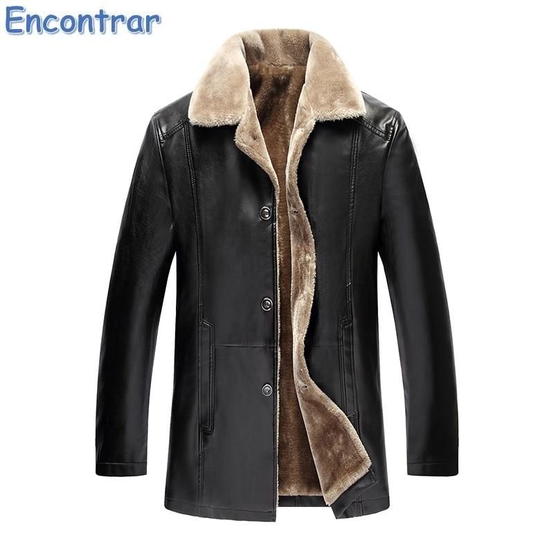 Encontrar Winter Fur Leather Jacket Mens Plus Size 5XL Suede Leather Jackets Men Faux Fur Thick Warm Long Suede Jacket,QA360