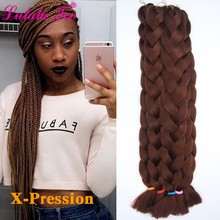 82inch Synthetic Jumbo Braiding Hair for Women 165g/Pack Red Blue Crochet