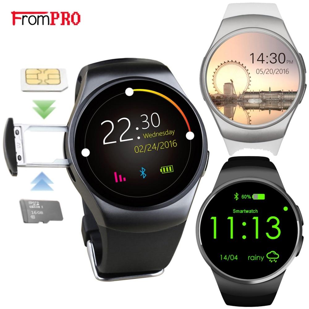 KW18 montre intelligente entièrement arrondie Android IOS Bluetooth Reloj Inteligente carte SIM moniteur de fréquence cardiaque montre horloge Mic Anti perdu