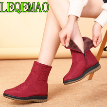 Women Boots Winter Shoes Women Plus Insole Snow Boots High Quality Fur Ankle Boots for Women Waterproof Winter shoes Embroider цена 2017