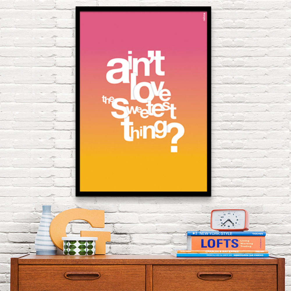 Poster style Art Print Framed Canvas Painting Art Peculiar Letter ...