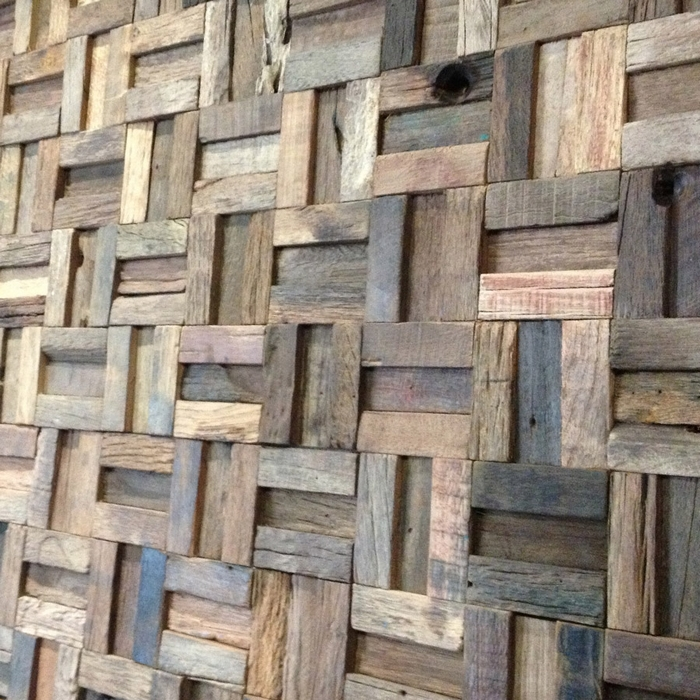 EHW1015 strip rustic log old wood mosaic tile kitchen backsplash