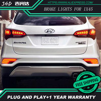 Free Shipping Tail Light Parking Warning Rear Bumper Reflector For Hyundai Santafe IX45 2016 2017 Car