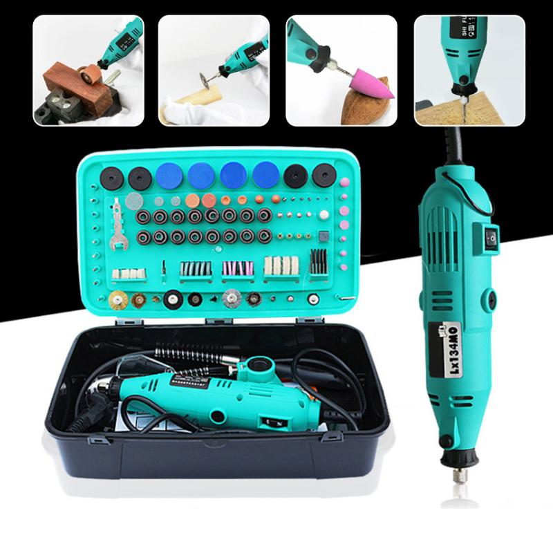 220V 130W 30000rpm Electric Drill Power tool Mini Grinder Rotary Tools With Polishing Tools Set Mini Grinding Tools Mini Grinder free shipping and wholesale 1 set grinder hand drill tool fittings grinder tools