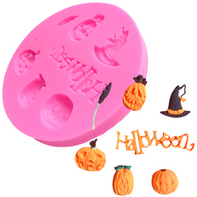 Halloween Pumpkin Witch Hat Silicone Cupcake Chocolate Mold Lace Mat Cake Decorating Moulds Candy