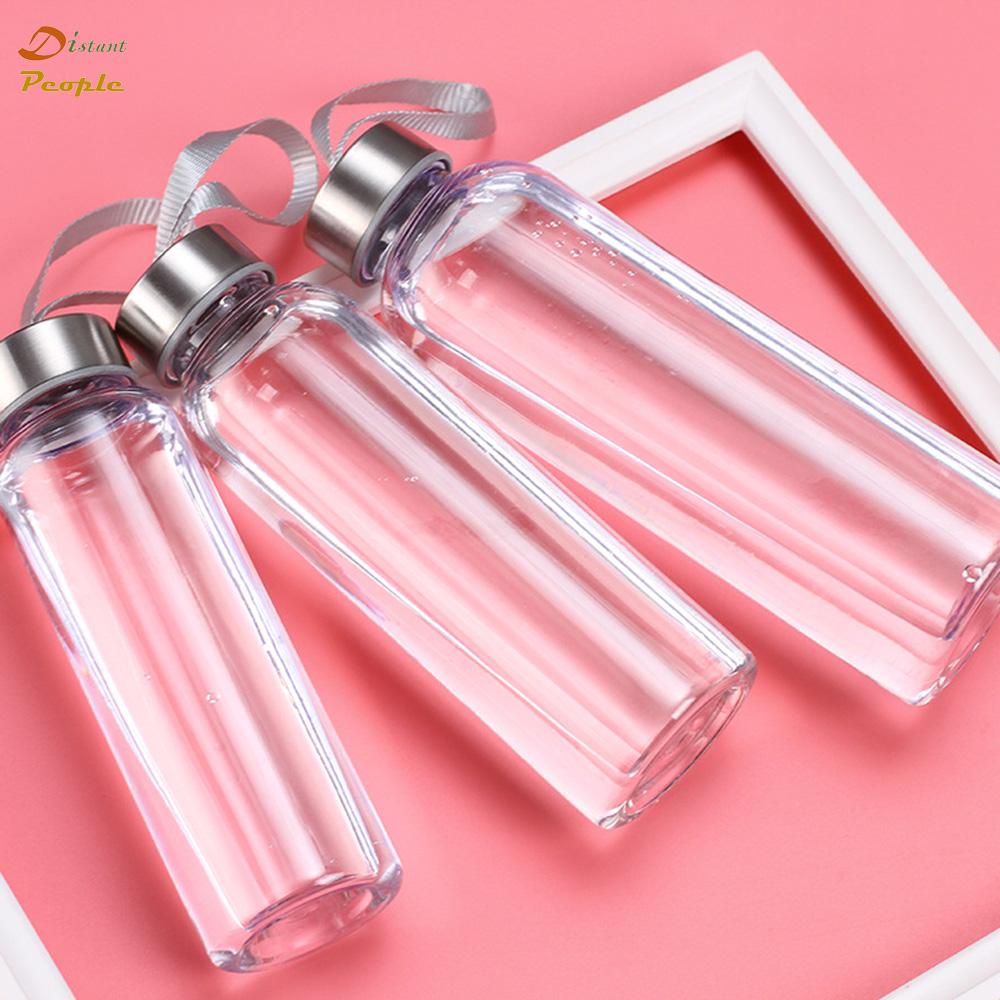 Portable Water Bottles Outdoor Sports Plastic Transparent Straight Round Leakproof Travel Carrying for Water Bottle Drinkware|Water Bottles| |  - AliExpress