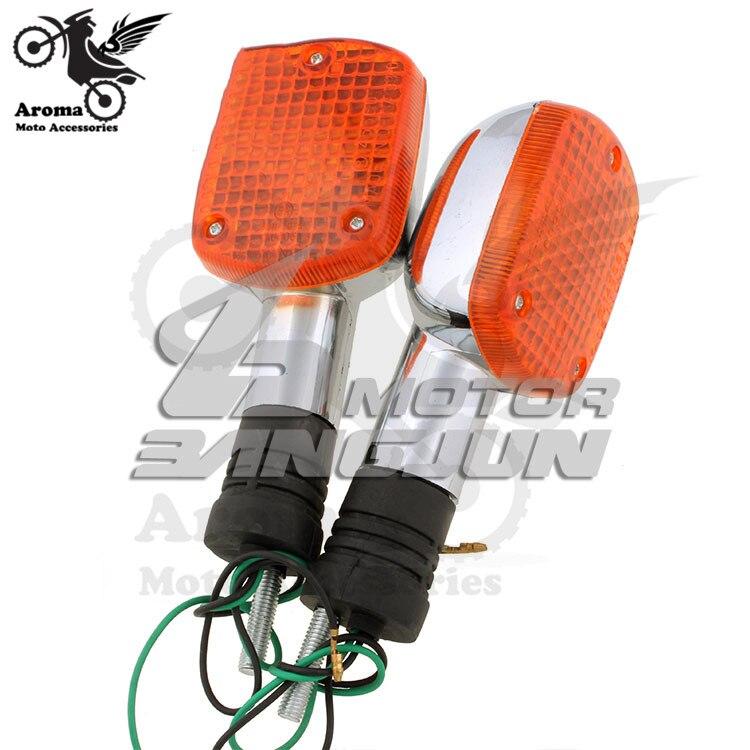 brand professional chrome silver orange lighting behind motorbike turn signal light for honda CA250 moto rear flashing blinker