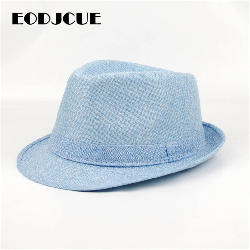 2019 Fashion Spring Summer Jazz Hat Wide Brim Beach Panama Hat Classic Sun Hats Retro Fedoras Top Hat Men Women