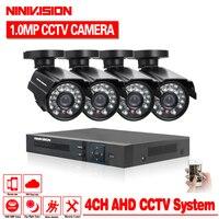 NINIVISION Security Camera System 4ch CCTV System DVR DIY Kit 4 X 720P Security Camera 1