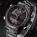 Люксовый бренд NAVIFORCE спортивные часы мужские стальные LCD армейские военные часы Мужские кварцевые часы Аналоговые Цифровые relogio masculino 2018