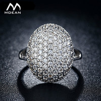 MDEAN Bella Engagement Ring White Gold Plated Jewelry Fashion Accessories Luxury Zirconia MSR043