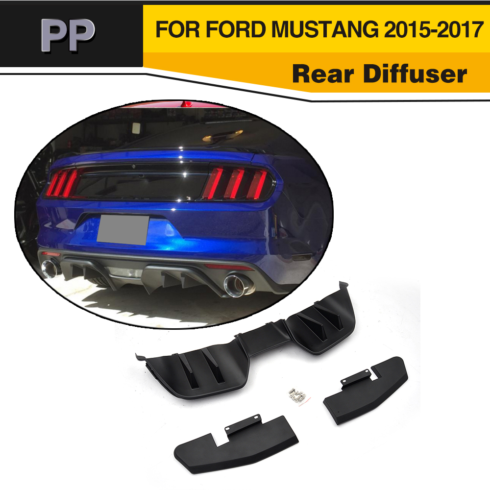 Car Style PP Car Rear Bumper Diffuser Lip For Ford Mustang Coupe 2015-2017