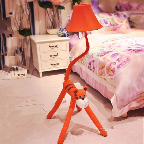 HGhomeart Creative cartoon tiger vertical garden floor lamp bedroom ...