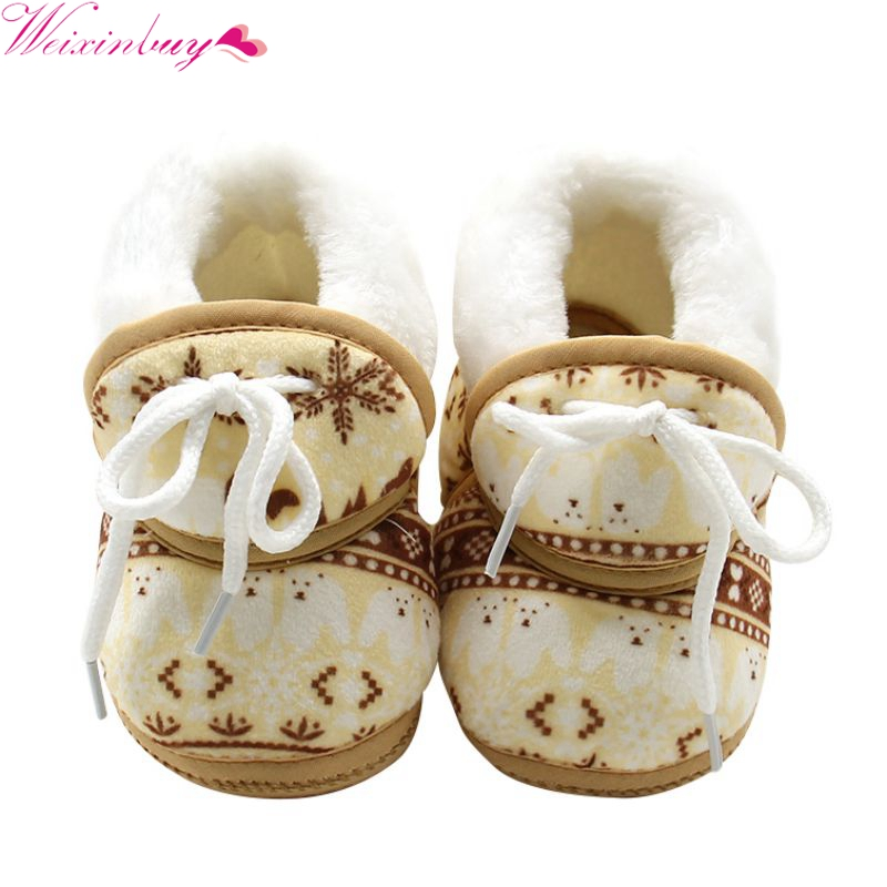 Cute Kids Baby Boy Girls Toddler Winter Warmer Shoes Soft Cotton Prewalker 7-12M cute baby kids floral cotton shoes toddler infants shoes bowknot prewalker shoes