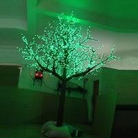 3.5 Mètre 3360 led Rouge-Vert-Jaune 3 changement de Couleur artificielle bleu fleur de cerisier arbre lumière pour Noël décoration extérieure