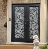 Sprzedaż hurtowa kutego żelaza drzwi wejściowe żelazne żelaza podwójne drzwi wejściowe żelazne żelaza drzwi wejściowe żelazne żelaza drzwi wejściowe na sprzedaż hc14