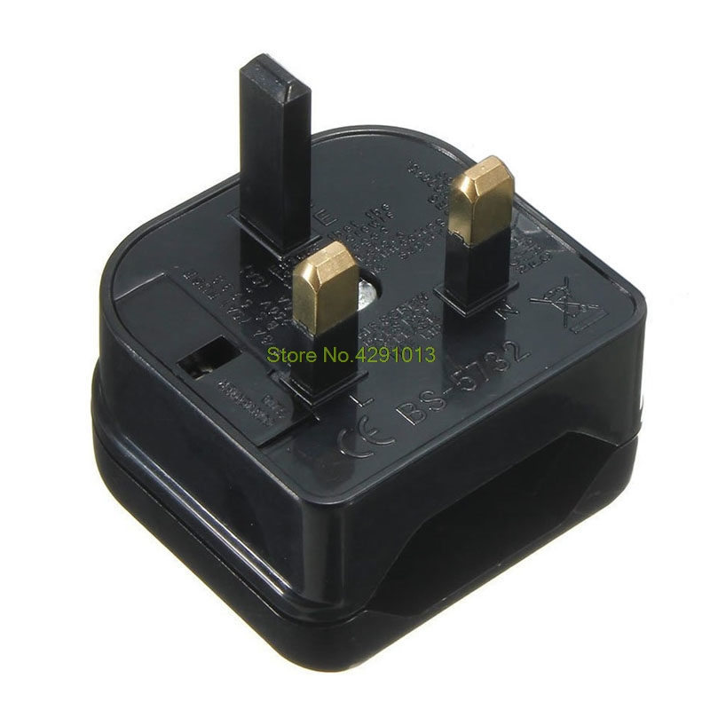 New European Euro EU 2 Pin to <font><b>UK</b></font> <font><b>3Pin</b></font> Power Socket Travel <font><b>Plug</b></font> Adapter Converter Drop Shipping Support image