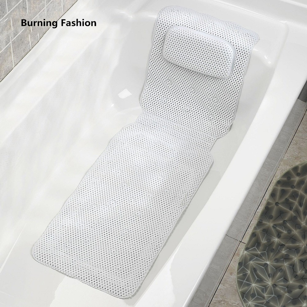 Burning Fashion 2018 SPA Non-slip Bathtub Beach Pillow Mat