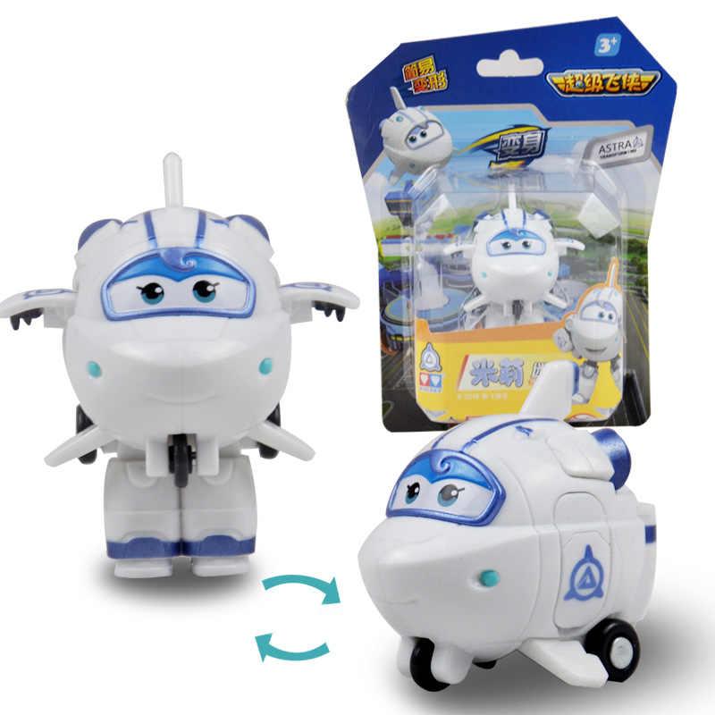 12 스타일 미니 슈퍼 날개 변형 미니 제트 ABS 로봇 장난감 액션 피규어 슈퍼 날개 변형 장난감 어린이 선물