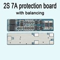 2S cell 7A li-ion BMS PCM 18650 lithium battery protection board bms pcm with Balance battery charge discharge;
