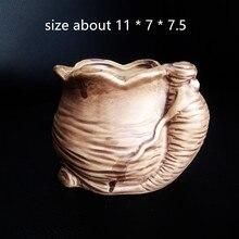 Ginseng Pot Mould Handmade Clay Craft Concrete Planter Silicone Mold Creative Desktop Gardening decoration vase mould