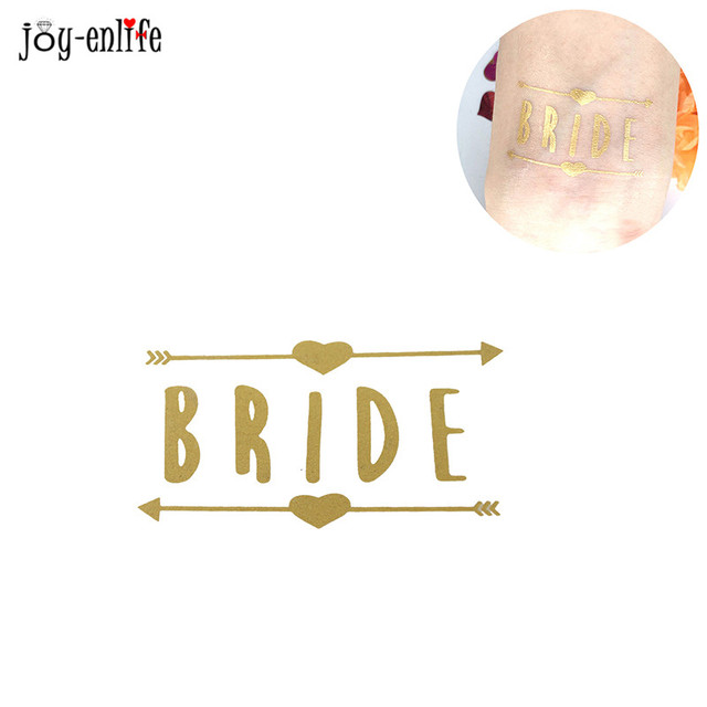 1pcs Bride Tribe Temporary Tattoo Bachelorette Party Accessories