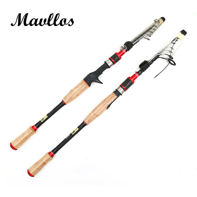 Mavllos ml ultra light spinning casting telescopic fishing for Light fishing rods
