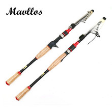 Mavllos ML Ultra Light Spinning Casting Telescopic Fishing Rod 2.1M Lure Weight 3/8-4/3oz Soft Action Casting Spinning Rod Pole