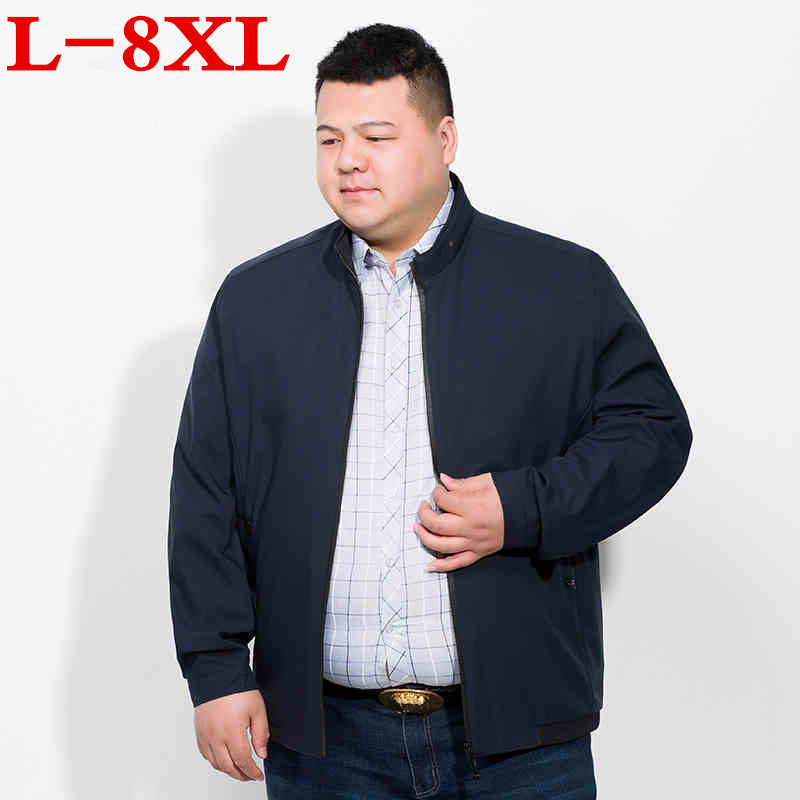 plus size 8XL 7XL Men's Jackets 2018 Men's New Casual Jacket High Quality Spring Regular Loose Jacket Coat For Male Wholesale