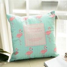 HOT SALE Flamingo Pattern Plush Throw Pillow Cushion Cover Seat Car Home Sofa Decor Decorative Quality Pillowcase Square 45x45cm